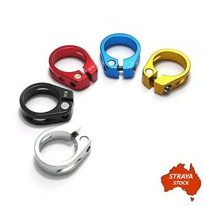 Bicycle Seat Post Clamp - Alloy - 5 Colours - 31.8mm Road / MTB Bike -AU STOCK-