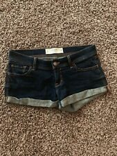 Gilly Hicks Sydney Dark Wash Denim Jean Shorts Size 0 W25 Cheeky Stretch