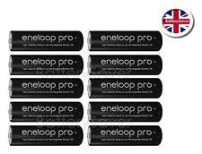 10 x Panasonic eneloop PRO AA 5th Gen NiMH Rechargeable Battery 2500mAh BK-3HCDE
