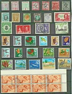 AFRICA Rhodesia North South STAMP Collection Inc HV VIC-QE Mint Used REF:QV640a