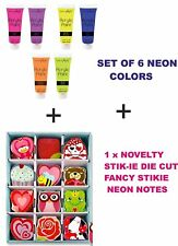 NEON vernici acriliche-Set di 6 colori + Gratis Novità STIK-IE DIE CUT-6569+H278429
