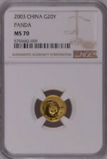 NGC MS70 2003 China Panda 1/20oz Gold Coin