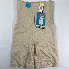 NWT Vintage FLEXEES Firm Control Waist Nipper Shapewear in Blush Tan sz L