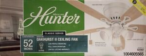 Hunter 52-inch Oakhurst II Ceiling Fan Light Kit - White - 52302 - NEW