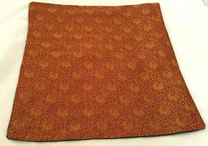 Cushion Cover: Peacock Emblem Red and Gold Pattern (cover only)