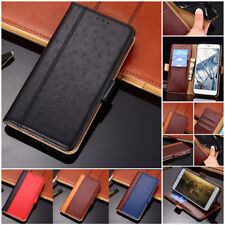 Ostrich Leather texture Magnetic Flip PU Case Cover For Nokia 8.1 X6 X5 7.1 5.1