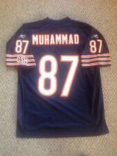 Mushin Muhammad 87 Chicago Bears NFL Reebok Blue Jersey Adult Large new