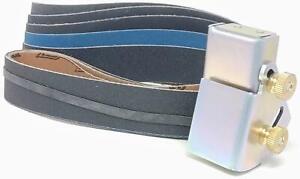 Knife Sharpening Angle Guide Pack - 1x30 Belt Sander Guide & 5 Sanding Belts
