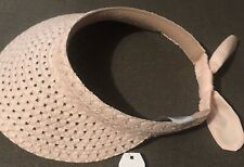 One Size Fits All Pink Straw Visor