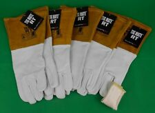 5 Pr TIGMATE RT Tig Gloves + TIG FINGER Goat Skin Gloves TIGMATE RT Tig Large