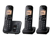 Panasonic KX-TGC223EB Triple Trio Phone DECT Cordless Telephone + Answer Machine