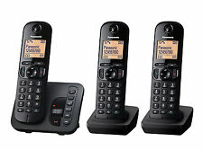 Panasonic KX-TGC223EB Paquete Triple Trio DECT Teléfono Inalámbrico + Contestador automático