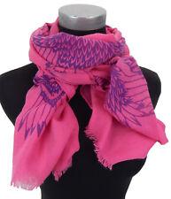 Damenschal pink lila Adler Vogel by Ella Jonte Motiv Schal Baumwolle Viskose