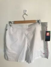 BNWT Ladeis Wilson Tennis Shorts white and pink xl 16/18