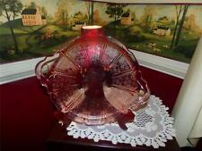 Rare Vtg JEANNETTE Pink Depression Glass CHERRY BLOSSOM Platter w/ handles