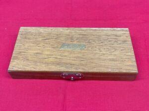 LUFKIN WOOD CASE FOR 680 MICROMETER SET  IN STOCK!!   vintage