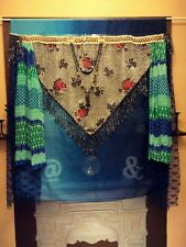 SALE Handmade OOAK Bohemian Curtain Hanging Tapestry Gypsy Art Gifts for her