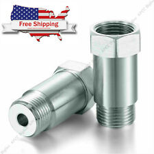 (2) O2 OXYGEN SENSOR EXTENDER EXTENSION SPACER M18 x 1.5 02 BUNG ADAPTER OBD2