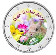 2 Euro Deutschland - Ostern - Happy Easter 2017 Variante 2 st Farbe, color