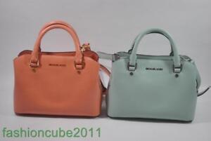 New With Tag MICHAEL Michael Kors Savannah Leather Small Satchel Bag