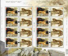 Canada SHEET#2123a - Big Cats (2005) 2 x 50¢