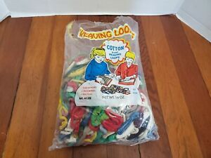 Cotton Blend Weaving Loops Crocheting Hooking Colored Crafts Hobby Open Bag