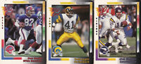 1992 Wild Card Football Cards Rich Gannon, Todd Lyght,  Don Beebe - lot of 3