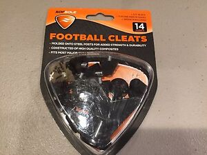 """Sof Sole Football Cleats - 1/2"""" Plastic Tip Black, Wrench Included 14 Cleats NEW"""
