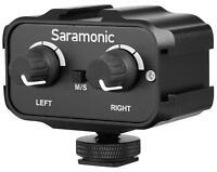 Saramonic SR-AX100 Microphone Audio Mixer for DSLR Cameras & Camcorders (Black)