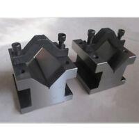 V Block with Clamp Set Toolmakers Vee Block 1-3/8''x1-3/8''x1-3/16''