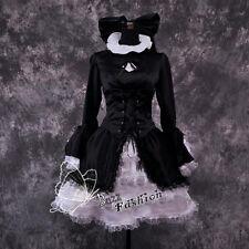 FATE/HELLOW Cosplay Gothic Kostüm Damenkleider Halloween Schwarz Retro Palast