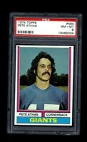 NM-MT 1974 Topps Football #494 Pete Athas graded PSA 8.
