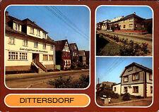 DITTERSDORF Kr. Rudolstadt DDR AK ua. Gasthaus Zum Elisabethfelsen, Dorfstrasse