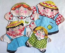 Vintage Fisher Price Stuffins  Farm Family Learning Puppets 1970's Toys Cloth