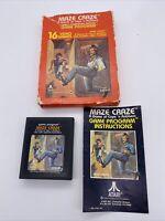 Maze Craze Atari 2600 Complete Black Manual, Picture Label Game Box Tested