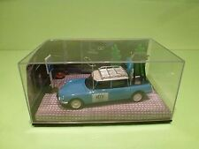 DIORAMA CITROEN DS 19 BREAK - RTF TELEVISION - BLUE 1:43 - GOOD IN BOX