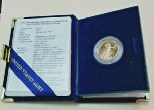 1991 P $10 Gold American Eagle Proof Coin 1/4 oz Gold