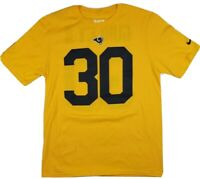 Boys The Nike Tee Los Angeles  Rams 30 Todd Gurley II Jersey Shirt XL yellow