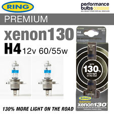 RW3372 Ring H4 Xenon 130 Performance Headlight Bulbs 12v 60/55w H4 P43t (x2)
