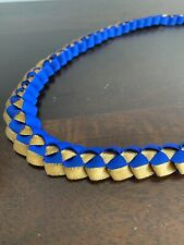 Ribbon Lei Ble And Gold Approx 30in
