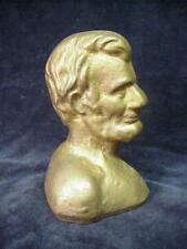 Antique Doorstop Abe Lincoln Bust Head Cast Iron Political ....*2/18