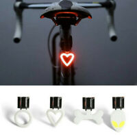 USB Rechargeable Bike Rear Tail Light LED Bicycle Warning Safety Smart Lamp New-