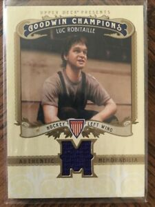 2012 UD GOODWIN CHAMPIONS LUC ROBITAILLE GAME USED CARD