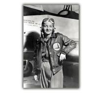 """War WASP Commander Nancy Harkness, 1943 Photo WW2 Glossy """"4 x 6"""" inch Z"""