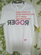 """NEW!! UNIQLO × Roger Federer Tennis """"GO ROGER"""" T shirt 2020 Australian open"""
