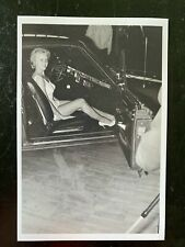 Vintage Photo, Sexy Lady in bathing suit and heels in an old  Thunderbird b5