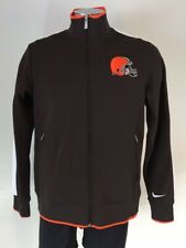 NIKE Cleveland Browns NFL Zip-up Jacket Youth/Women's Size Large Brown (EUC)