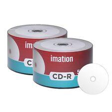 100 Pack Imation CD-R 52X 700MB White Inkjet Hub Printable Blank Recordable Disc