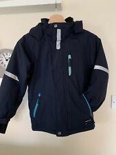 Polarn O Pyret Boys Ski Jacket Age 7-8 Size 128 Navy Blue Waterproof P.OP Coat
