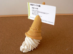 Fake food  Business Card Stand Soft Ice Cream food sample New Sweet Authentic